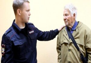 grandfather and police